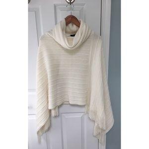 BCBGMaxAzria Cream Poncho Sweater